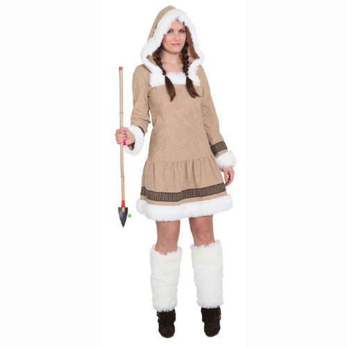 (PARTY DISCOUNT ® Damen-Kostüm Eskimo Girl de Luxe, Gr. 36)