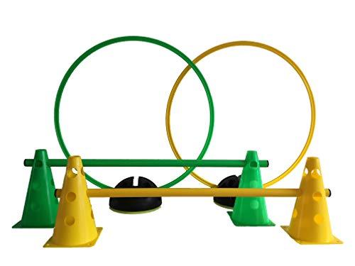 LA-24 Agility Hürden und Reifen-Set (grün/gelb)
