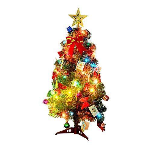 TIREOW_Weihnachten Mini Dekorations Ausgangsweihnachtsgeschenk mit Lichter Partei der Tischplatte Weihnachtsbaum LED (23,6 Zoll)