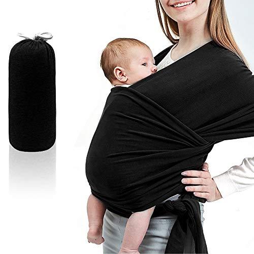 XianRui Babytragetuch Kindertragetuch, Atmungsaktiv Tragetuch Unisex-Babytrage Koala-Kuschelband-Babytrage für Neugeborene bis 20 kg Leicht zu Tragen (schwarz)