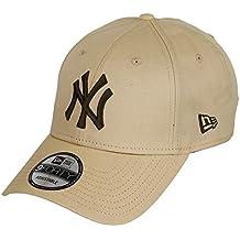 b8153335c9bb4 New Era New York Yankees New Era 9forty Adjustable Cap League Essential  Wheat Brown -