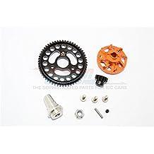 Traxxas Slash 4x4 Low-CG Version Upgrade Parts Aluminium Gear Adapter With Steel 32 Pitch 56T Spur Gear & 13T Motor Gear - 1 Set Orange