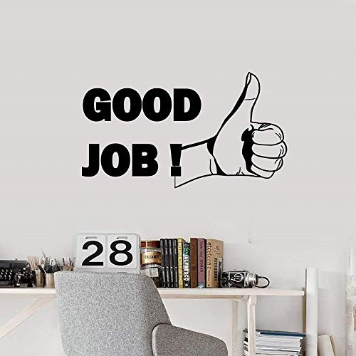 zqyjhkou Vinyl Wandtattoo Daumen hoch Gute Arbeit Büro Motivation Inspiration Satz Aufkleber Wandbild 2bg15 87x57cm
