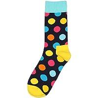 FHCGWZ 5 unids/Set Mujeres Dot Print Colorful Cotton Sock Fabuloso Elástico Unisex Calcetín Ocasional Estilo Juvenil Calcetín