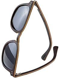 WOLA Herren Sonnenbrille Holz HELIO Brille quadratisch polarisiert UV400