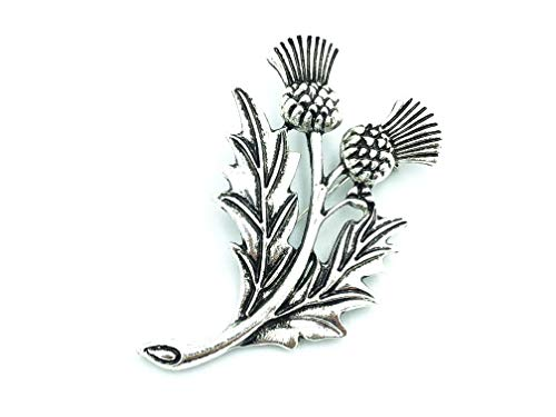 Patch Nation Schottland Schottisches Distel Silber Metall Cosplay Button Badge Pin Brosche Anstecker