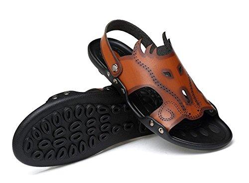 sandali nuovi 2017 uomini di estate eccellente pantofole fibra pantofole scarpe da uomo sandali a doppio uso per il tempo libero 2