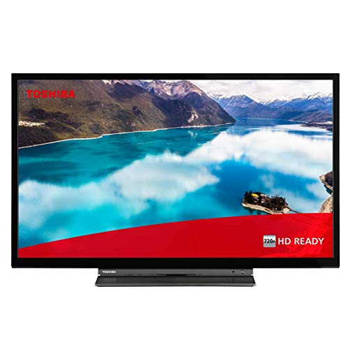 Toshiba 32WD3A63DB 32-Inch HD Ready Smart TV with Freeview Play and Buil-In DVD Player - Chrome Black/Silver (2019 Model) (Refurbished)