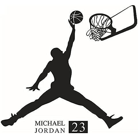 Winhappyhome baloncesto muchacho de la manera etiqueta de la pared pegatinas removibles Habitación Sala Cafe papel tapiz de fondo Decoración de cristal