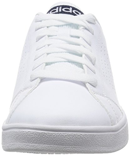 adidas NEO Herren Advantage Clean Vs Low-Top, Bunt, Eu Blanco / Azul Marino (Ftwbla / Ftwbla / Maruni)