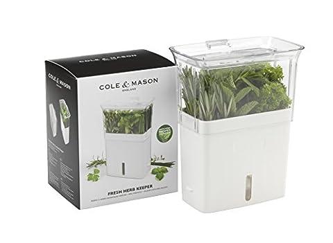 Cole & Mason Fresh Herb Range Cut Herb Keeper - Plastic/White and Grey