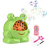 Bubble Machine For Kids & Pets, Frog Bubbles Machines Full Fun For The