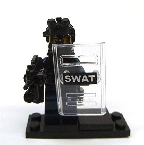 Modbrix 8236 – 2 Stück Custom SWAT Minifiguren aus original Lego© Teilen - 2