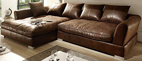 Reboz Big Sofa Ecksofa Vintage Braun Schwarz Ausrichtungen