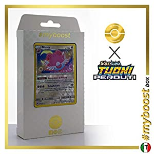 Blissey 153/214 Holo Reverse - #myboost X Sole E Luna 8 Tuoni Perduti Box de 10 Cartas Pokémon Italiano