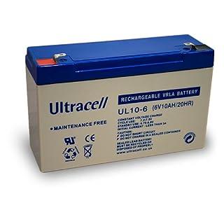 Wentronic Blei-Akku (Ultracell) 6 V, 10 Ah (Faston 250-6 4mm)