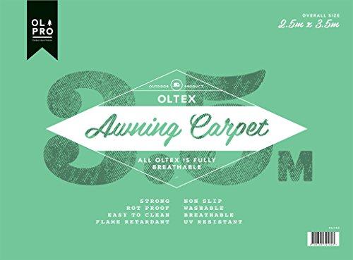 OLPro OLTex atmungsaktiv Vorzeltteppich, grün/grau, 2,5x 3,5m