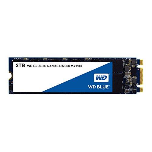 WD Blue 3D NAND 2TB SATA M.2 SSD interne Festplatte. Verbesserte Energieeffizienz. Für Multitasking und ressourcenintensive Anwendungen WDS200T2B0B