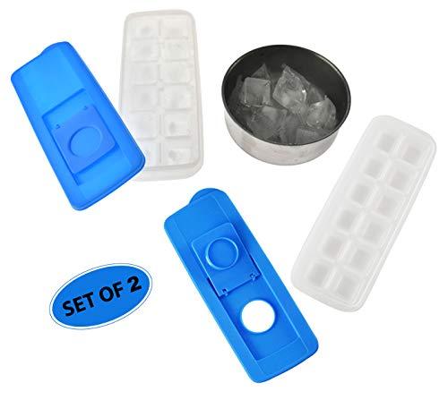 Home-X Eiswürfelbereiter mit einfachem Nachfüll-Halter, Home Bar Zubehör für Gefrierschrank -