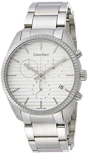 Calvin Klein uomo-orologio Cronografo in acciaio inox luenette K5R37146