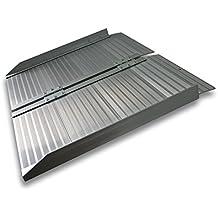 Rampa corta de 62cm para un escalón 270kg Aluminio Portátil Plana Minusválidos Acceso ...