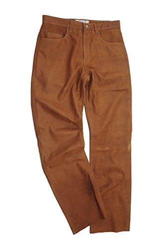"""""""Fuente""""Lederhosen Pantaloni in pelle bootcut Pantaloni da donna in pelle per uomo, pantaloni in pelle per donna Molletta Moto, Moto, Bicicletta, equitazione, Trachten Brown"""