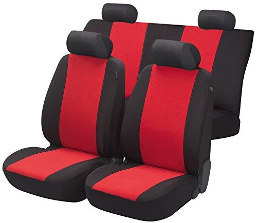 Walser 12473 Set Completo coprisedili Auto Flash Rosso, per Veicoli Dotati di airbag Laterale, Certificato dal TÜV con CO