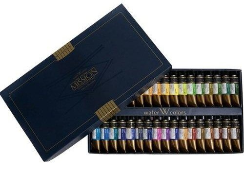 mission-gold-water-color-set-34-colors-by-martin-f-weber