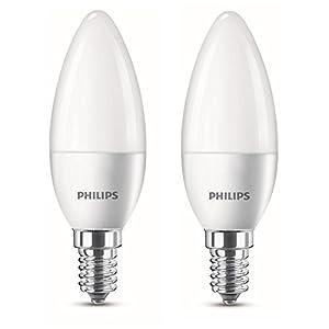 Philips LED Lampe ersetzt 25 W, EEK A+, E14, warmweiß (2700 Kelvin), 250 Lumen, matt, Doppelpack, 8718696475201