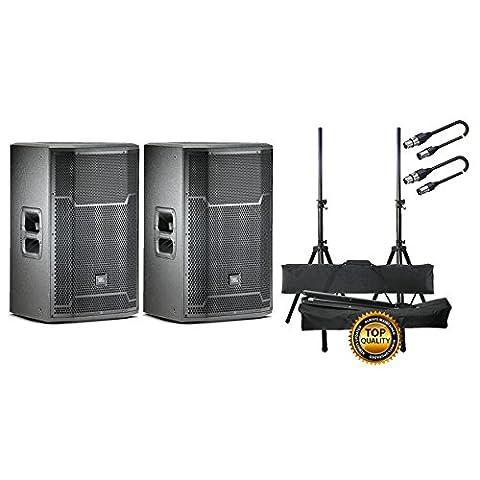 JBL Set Paar Aktive Lautsprecher mit Tieftöner/Stand/Kabel XLR/XLR 10mt Bundle