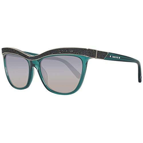 Swarovski sunglasses sk0075 96p-55-17-135 occhiali da sole, blu (blau), 55 donna