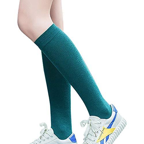 Vovotrade Damen Bunt Lange Sportsocken Elastisch Stützstrümpfe Frauen Winter warm Hoch Über das Knie Sportsocken Socks über Kniestrümpfe
