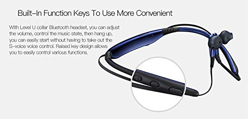 Syl Plus Level U Bluetooth Wireless Earphones 4.1 with Mic in-Ear Stereo Sport Neckband Headsets with Back Button for All Andriod & iOS Smartphones Image 4