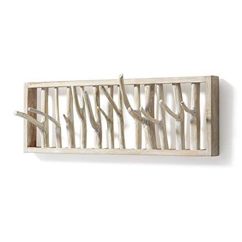 Kave Home - Perchero de Pared Muntfre de Ramas de Teca Natural