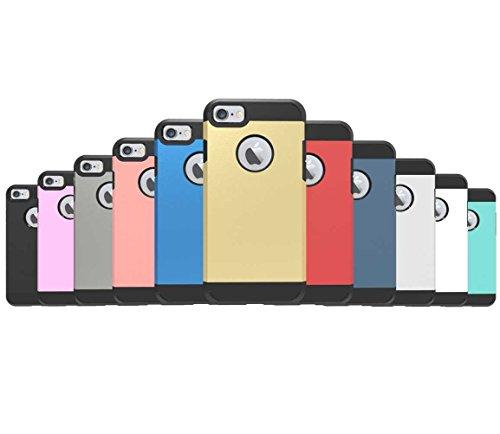 """iPhone 7 Coque, AOFad Case Anti - poussière Protection des lourds 2-à-1 gris TPU Avec 10 Colors Diamond Accessoires Série Pour Femme Homme 4.7"""" I099 AOFad B329"""