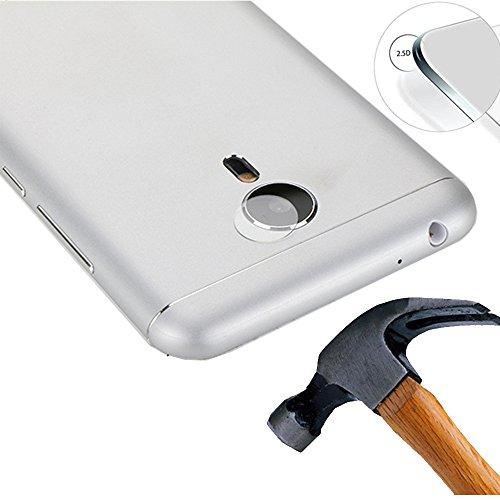 Lusee 2 x Pack Kamera Schutzfolie Linsenschutz für Meizu Pro 5 / Pro5 5.7 Zoll Echtglas Tempered Glass Bildschirm Schutz Folie