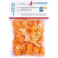 Tiletracker pro Reusable Tile Spacers 100x 2mm Trade Pack with J Hook.