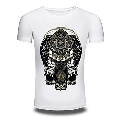 Sommer Kurzarm T-Shirts Top T Bluse Beiläufige Dünne Sport T-Shirt Männer Jungen T-Shirt Top,3D Digitaldruck - F weiß 4XL (Baby Familie Adams)