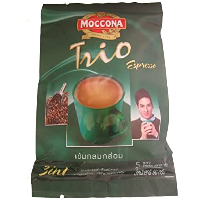 6 pcs. Moccona Trio Instant Coffee Mixed Espresso 3 in 1 Coffee Net Wt 90g. From thai. Product of Thailand by Thailand