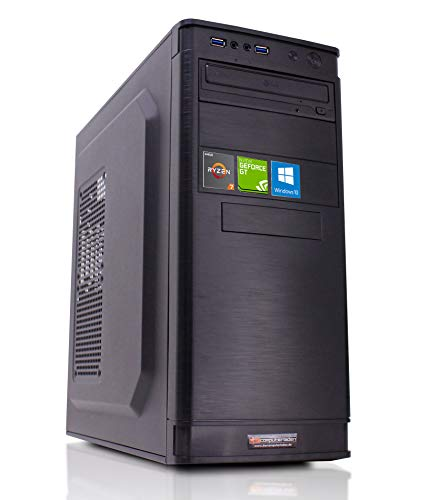 dercomputerladen Office PC IT-5905 AMD Ryzen 7-2700X 8x3.7 GHz - 32GB DDR4, 240GB SSD & 1TB HDD, GT1030 2GB, WLAN, Windows 10 Büro Computer Desktop Rechner