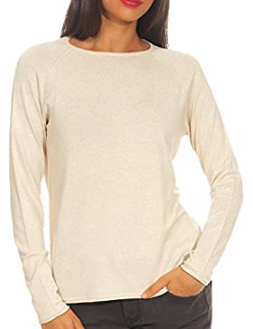 Only Nos Onlmila Lacy L/S Knt Noos, Jersey para Mujer