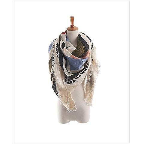 R&R Moda mujer de algodón pintado a mano bufandas, mantón de la cachemira caliente , a - aziz tecka
