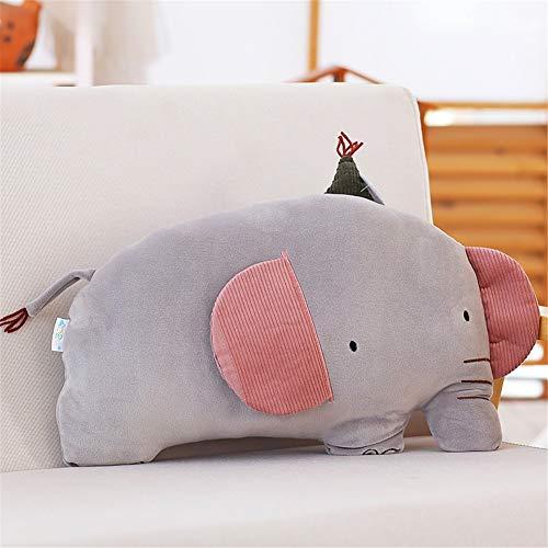 PANGDUDU Grauer Elefant Kissen Kinder Puppe Plüschtier Süße Puppe Baby Komfort Schlafkissen Geburtstagsgeschenk Weiblich, 60Cm - Baby Grauer Dekorationen Elefant