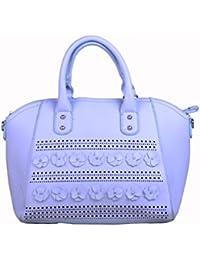 Hopping Street Blue Faux Leather Women Handbag