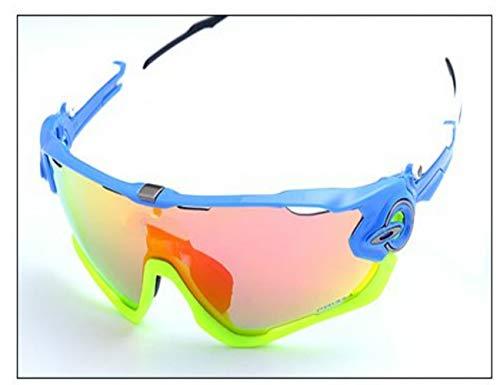 ZHANGSHIGC Polarized Cycling Sun Glasses Outdoor Sports Fahrradbrillen Herren Damen Sonnenbrillen Sonnenbrillen Brillen Lán Sè Kuàngjià Huángsè Kuàngjià 9/5000 Blue Frame