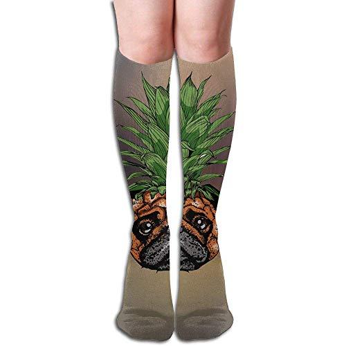 Mops Design elastische Mischung lange Socken Kompression Kniestrümpfe (50cm) für den Sport ()