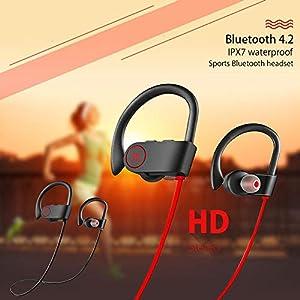 Sport-Bluetooth-Headset Drahtloser Bluetooth-Stereo-Kopfhörer Kopfhörer Sport-Ohrhörer Ohrhörer Sweatproof