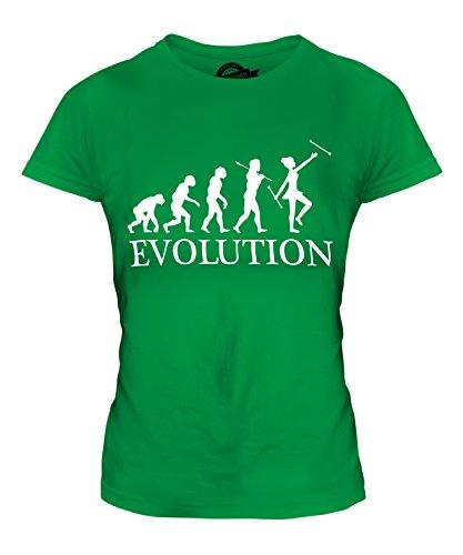 CandyMix Baton Twirling Evolution Des Menschen Damen T Shirt, Größe X-Small, Farbe (Baton Twirling Kostüme)