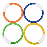 4colors : 4PCS/Lot Dive Ring Swimming Pool Accessory Toy Swimming Aid for Children Water Play Sport Diving Beach Summer Toy Kids Pool Fun