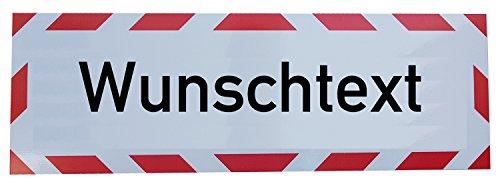 UvV Kfz reflektierendes Magnetschild -Wunschtext- | Schild magnetisch | verklebt auf TüV...